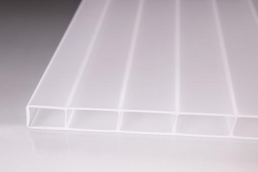 """16 mm Stegplatten  """"Die Robuste"""" weiß-opal"""