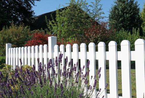 PVC Zaun Groja BasicLine gerader Verlauf 180x90 cm weiss